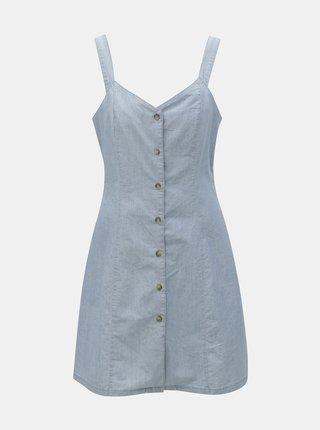 Rochie albastru deschis din denim VERO MODA Samantha