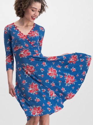 Modré kvetované šaty Blutsgeschwister Falleri Fallera