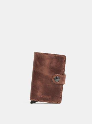 Hnedá kožená peňaženka s puzdrom na karty Secrid