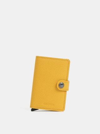 Horčicová kožená peňaženka s puzdrom na karty Secrid