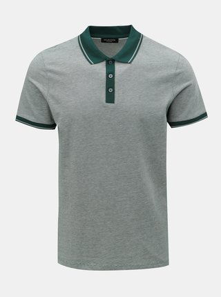 Tricou polo verde melanj Selected Homme Joe
