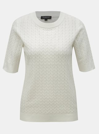 Top alb tricotat Selected Femme Emma