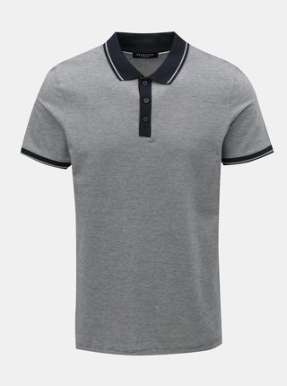 Tricou polo albastru inchis melanj Selected Homme Joe