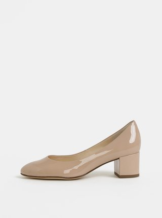 Pantofi bej din piele Högl