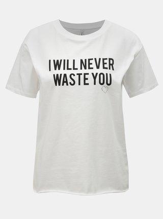 Tricou alb cu imprimeu ONLY Heart