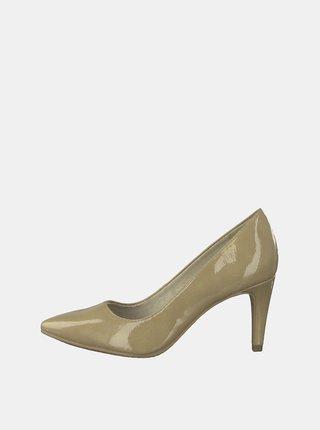 Pantofi bej luciosi Tamaris