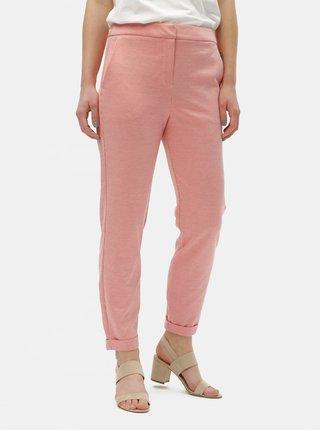 Pantaloni rosii cu model si talie inalta VERO MODA Toni