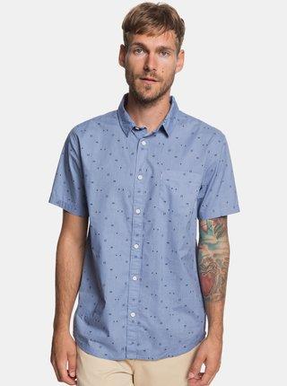 Svetlomodrá modern fit košeľa s drobným vzorom Quiksilver