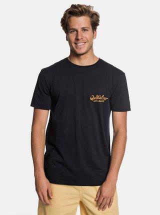 Tricou negru modern fit cu imprimeu la spate Quiksilver