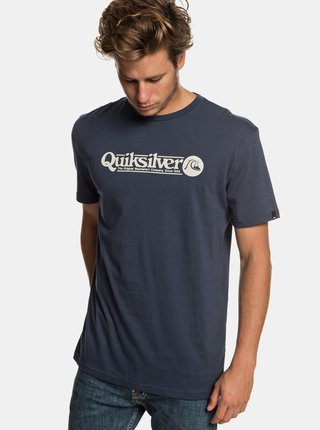 Tmavě modré regular fit tričko s potiskem Quiksilver