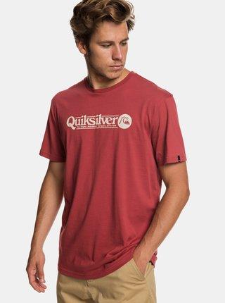 Tricou rosu regular fit cu imprimeu Quiksilver