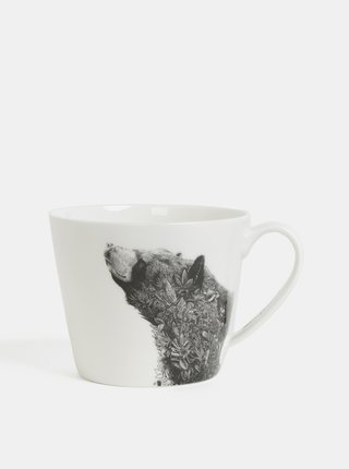 Cana alba din portelan cu motiv urs Maxwell & Williams