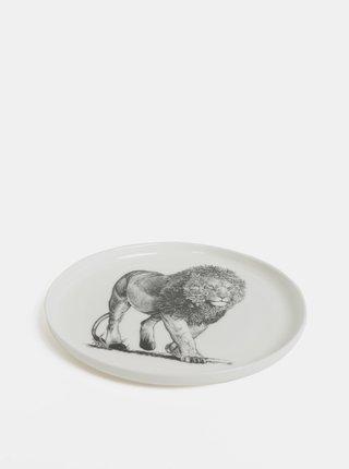 Biely porcelánový tanier s motívom leva Maxwell & Williams