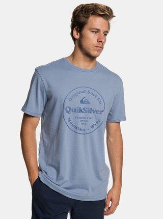 Světle modré regular fit tričko s potiskem Quiksilver