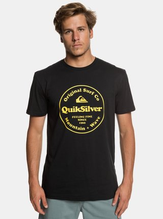 Čierne regular fit tričko s potlačou Quiksilver