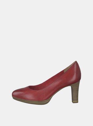 Pantofi rosii din piele Tamaris Zealot