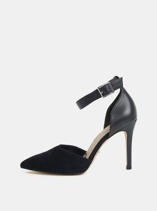 Pantofi albastru inchis din piele intoarsa Tamaris Idony