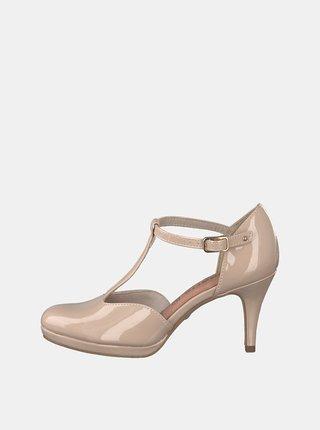 Pantofi bej Tamaris