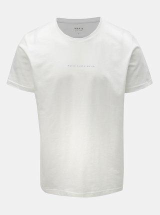 Tricou barbatesc alb cu imprimeu la spate Makia Vista