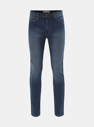 Tmavomodré skinny fit rifle Burton Menswear London