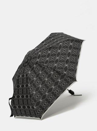 Černý vzorovaný deštník Doppler