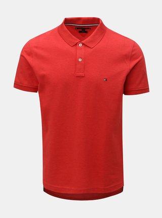 Červené pánské slim fit polo tričko Tommy Hilfiger