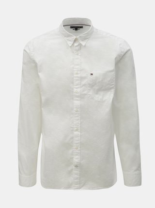 Biela pánska regular fit košeľa s vreckom Tommy Hilfiger