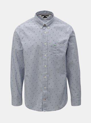 Světle modrá vzorovaná regular fit košile Tommy Hilfiger