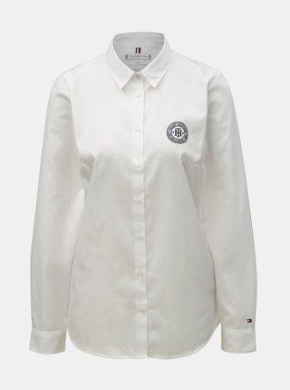 Biela dámska fitted košeľa Tommy Hilfiger