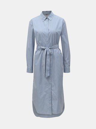 Bielo–modré pruhované košeľové šaty Tommy Hilfiger