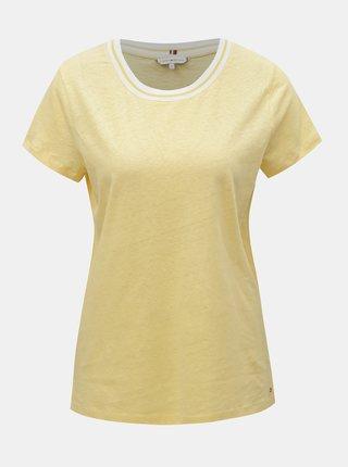 Žluté dámské lněné tričko Tommy Hilfiger