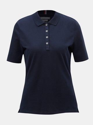 Tmavě modré dámské regular fit polo tričko Tommy Hilfiger Essential