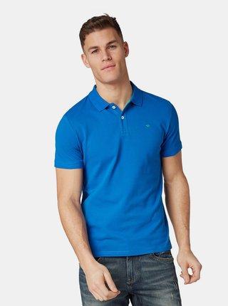 Tricou polo barbatesc albastru Tom Tailor