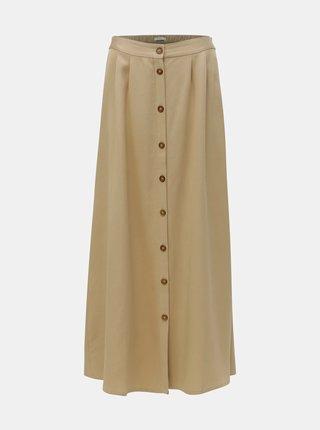 Béžová maxi sukně s knoflíky VILA Giliana