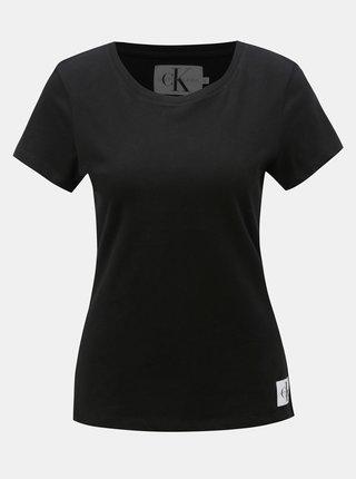 Čierne dámske tričko s nášivkou Calvin Klein Jeans