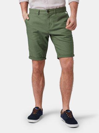 Pantaloni scurti barbatesti verzi din in Tom Tailor