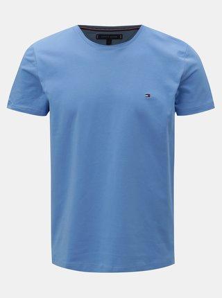 Modré pánské slim fit basic tričko Tommy Hilfiger