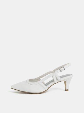 Pantofi albi Tamaris