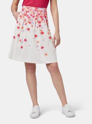 Bílá květovaná sukně Tom Tailor