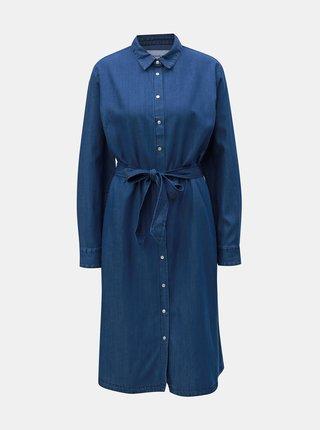 Modré džínové košilové šaty Calvin Klein Jeans