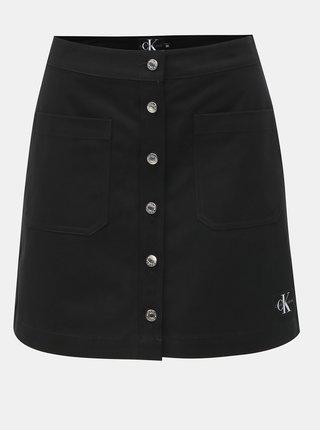 Čierna rifľová minisukňa Calvin Klein Jeans