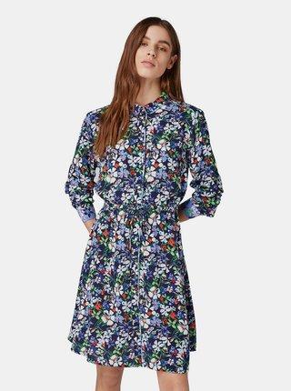 Rochie tip camasa albastru inchis florala Tom Tailor Denim