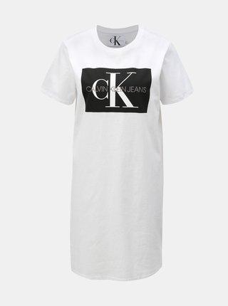 Biele šaty s potlačou Calvin Klein Jeans