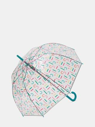 Umbrela automata transparenta cu imprimeu