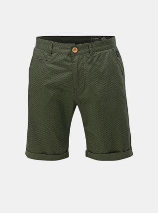 Pantaloni scurti verde inchis cu model Blend