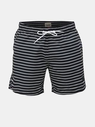 Bílo-černé pruhované plavky Blend