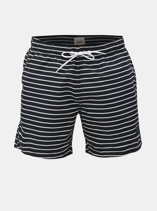 Bielo–čierne pruhované plavky Blend