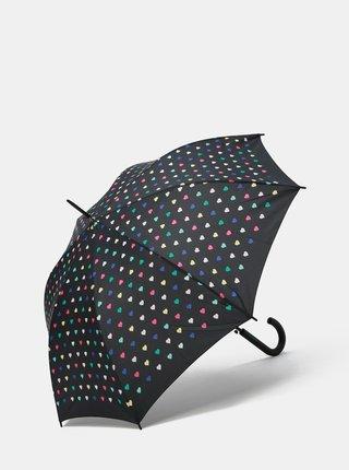 Umbrela automata neagra cu motiv inimi Esprit
