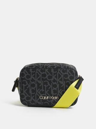 Čierna vzorovaná crossbody kabelka Calvin Klein Jeans