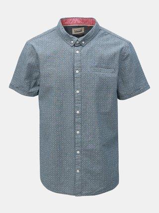 Modrá vzorovaná košile s kapsou Blend